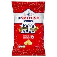 Smiths Crisps Simply Salted 6 Pack