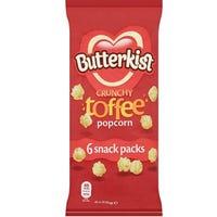* Butterkist Crunchy Toffee Popcorn 6x 20g Snack Packs