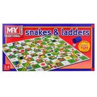 Traditional Games Snakes and Ladders Board Game