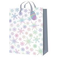 Christmas Metallic Snowflakes Gift Bag in Extra Large