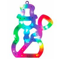 Multicoloured LED Window Light Snowman 30cm