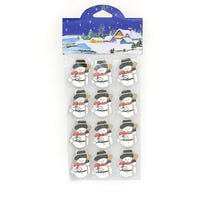 Christmas Card Holder Snowman with Sack 12 Pack