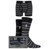 Jeep Mens Socks and Trunks Gift Set in Charcoal in Size XL