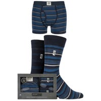 Jeep Mens Socks and Trunks Gift Set in Navy in Size Small