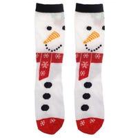 Ladies Christmas Socks Snowman