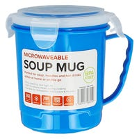 Microwavable Soup Mug in Blue