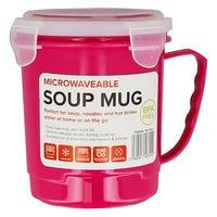 Microwavable Soup Mug in Pink