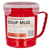 Microwavable Soup Mug in Red