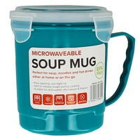 Microwavable Soup Mug in Teal