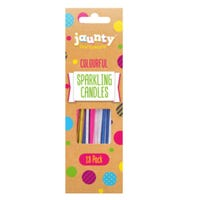 Colourful Sparkling Candles 18 pack