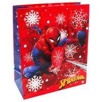 Christmas Spiderman Medium Gift Bag