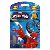 Ultimate Spider-Man Chunky Felt Tip Pens 8 Pack