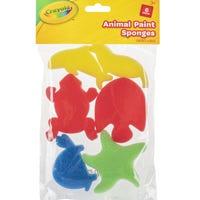 Crayola Animal Shape Sponges 6 Pieces