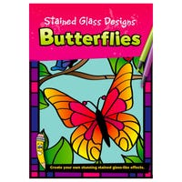 Brainbox Stained Glass Butterflies Book