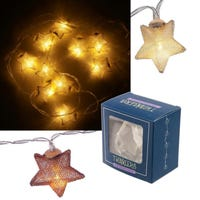 Metallic Star LED Lights String Copper 120cm