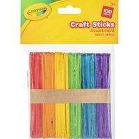 Crayola Craft Sticks 100 Pieces