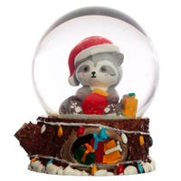 Christmas Racoon Snow Globe