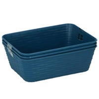 Small Blue Storage Baskets 3 Pack