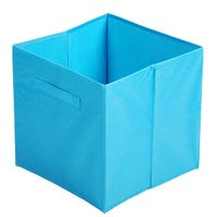 Canvas Storage Cube in Blue 31x31x31cm