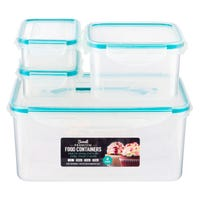 Click and Lock Containers 4 Pack