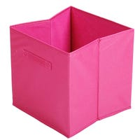 Canvas Storage Cube in Pink 31x31x31cm