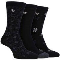 Storm Bloc Womens Fairisle Jacquard Socks in Black Size 4-8 3 Pack