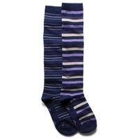 Storm Bloc Womens Knee High Striped Socks in Purple and Lilac Size 4-8 2 Pack