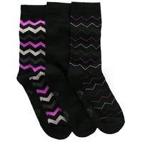 Storm Bloc Womens Chevron Jacquard Socks Size 4-8 3 Pack