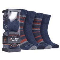 Storm Bloc Performance Ribbed Boot Socks 4 Pairs size 6-11