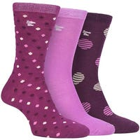 Storm Bloc Womens Spotted Jacquard Socks in Cerise Size 4-8 3 Pack