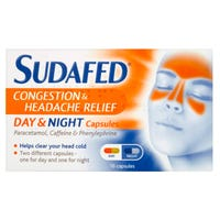 Sudafed Congestion and Headache Relief Capsules 16 Pack