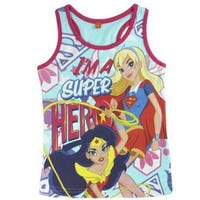 DC Superheroes Girls Vest Age 5 to 6