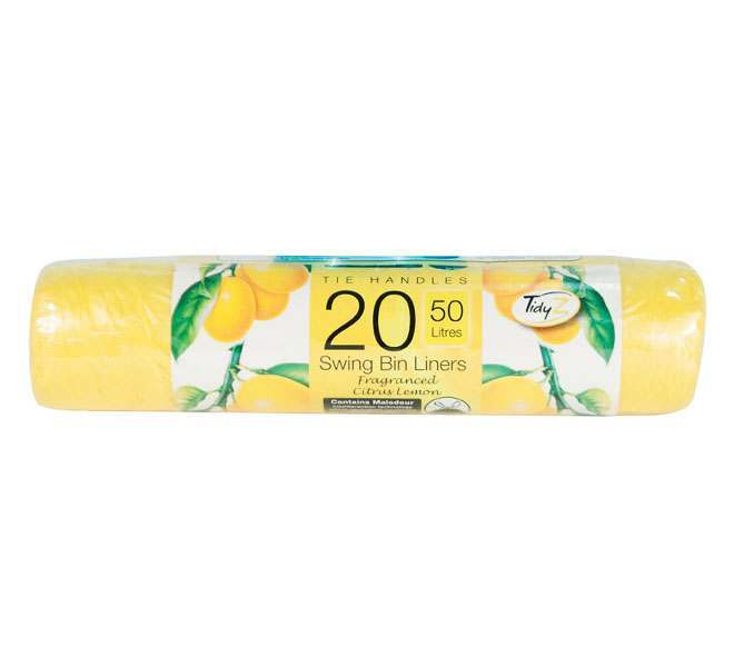 20 Pack Swing Bin Liners - Lemon
