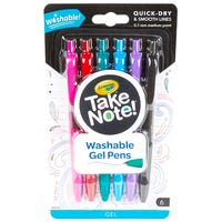 Crayola Take Note Washable Gel Pens 6 Pack