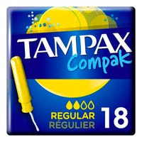 Tampax Compak Regular Tampons 18 Pack