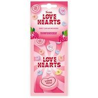 Love Heart Tangy Raspberry Car Air Freshener