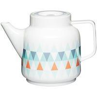 Geomettii Ceramic Teapot
