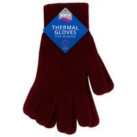 Ladies Thermal Gloves Burgundy