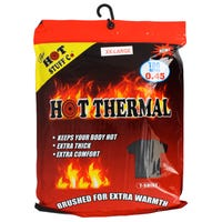 Men's Thermal Black T Shirt in XXL