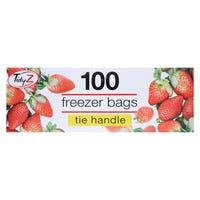 Freezer Bags Tie Handles 100 Pack