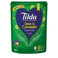 Tilda Lime and Coriander Basmati Rice 250g