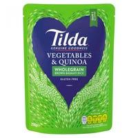 Tilda Vegetables and Quinoa Brown Basmati Rice 250g