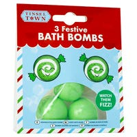 Festive Bath Bombs in Green