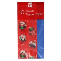 Christmas Tissue Paper in Festive Character Design 10 Sheets