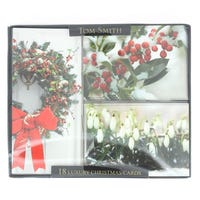 Multi View Christmas Cards Foliage 18 Pack