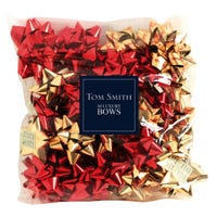 Luxury Bows in Red and Gold 30 Pack