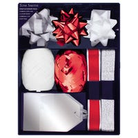 Tom Smith Gift Wrap Accessories in Silver and Red