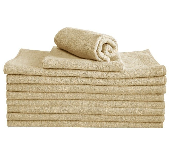100% Cotton Hand Towel - Biscuit