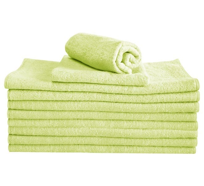 100% Cotton Hand Towel - Lime