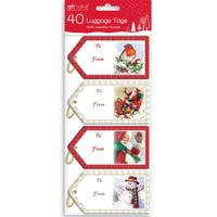 Luggage Tags Traditional 40 Pack